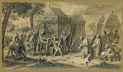 Drawing - Scenes From The Life Of Alexander The Great 1 by Francois Verdier