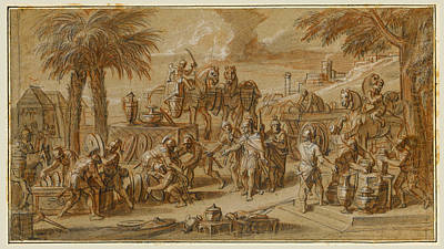 Drawing - Scenes From The Life Of Alexander The Great 10 by Francois Verdier