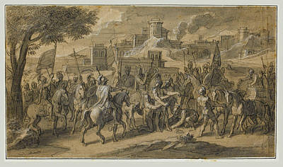 Drawing - Scenes From The Life Of Alexander The Great 2 by Francois Verdier