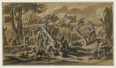 Drawing - Scenes From The Life Of Alexander The Great 3 by Francois Verdier