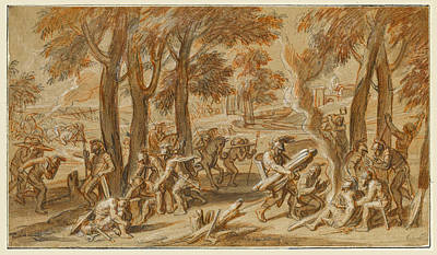 Drawing - Scenes From The Life Of Alexander The Great 4 by Francois Verdier