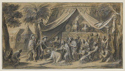 Drawing - Scenes From The Life Of Alexander The Great 5 by Francois Verdier