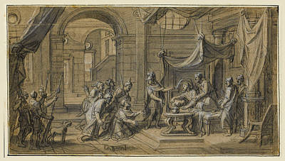 Drawing - Scenes From The Life Of Alexander The Great 6 by Francois Verdier