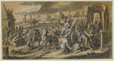 Drawing - Scenes From The Life Of Alexander The Great 8 by Francois Verdier