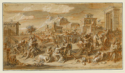 Drawing - Scenes From The Life Of Alexander The Great 9 by Francois Verdier