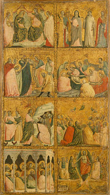 Painting - Scenes From The Life Of Christ by Giovanni Baronzio
