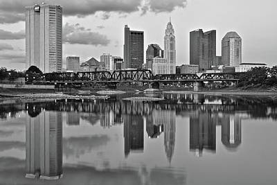 Photograph - Scenic Black And White Of Columbus by Frozen in Time Fine Art Photography