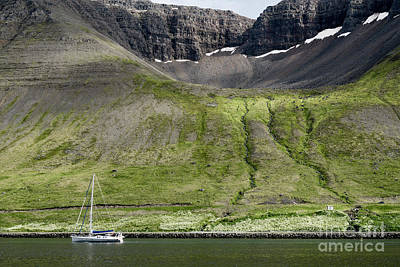 Summer Photograph - Scenic Landscape Near Reykjavik In Iceland. by Dani Prints and Images
