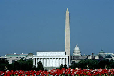 Scenic View Of Washington D.c Print by Kenneth Garrett