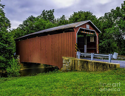 Pennsylvania Dutch Photograph - The Landis Mill Covered Bridge by Nick Zelinsky