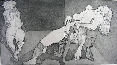 Brad Wilson Drawing - Schizoid by Brad Wilson