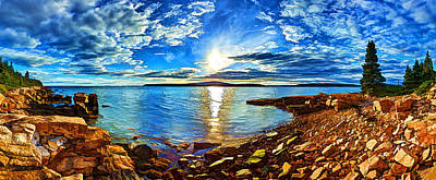 Coastal Maine Photograph - Schoodic Point Cove by Bill Caldwell -        ABeautifulSky Photography