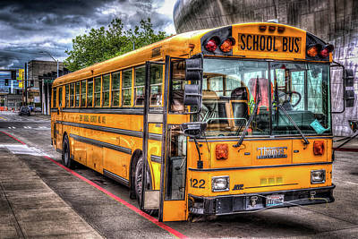 School Bus Photograph - School Bus by Spencer McDonald