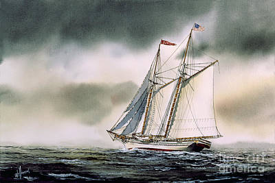 Schooner Heritage Print by James Williamson