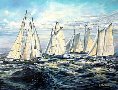 Schooner Race Original by Eileen Patten Oliver