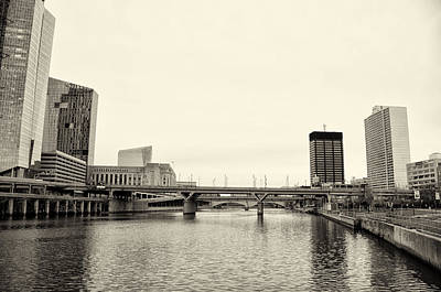 Schuylkill River In Center City Philadelphia Print by Bill Cannon