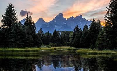 Landscape Photograph - Schwabacher's Landing Sunset by Matt Hammerstein