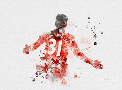 Soccer Mixed Media - Schweinsteiger by Rebecca Jenkins