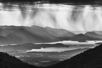 White Pines Photograph - Schweitzer Mountain Storm by Mark Kiver
