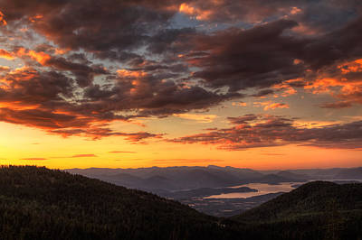White Pines Photograph - Schweitzer Mountain Sunrise by Mark Kiver