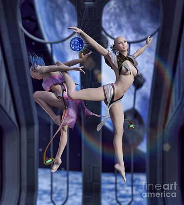 Ethnic Dolls Digital Art - Scifi Ballet by Georgina Hannay
