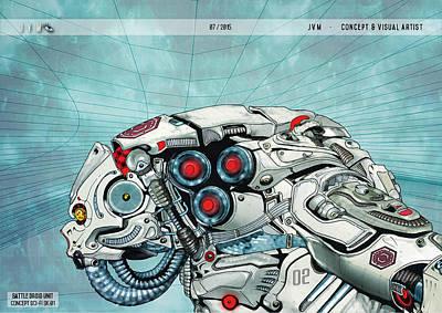 Scifi Char 01 Original by Juan Antonio Valverde