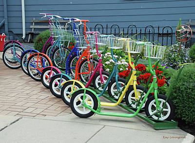 Photograph - Scooters by Kay Lovingood