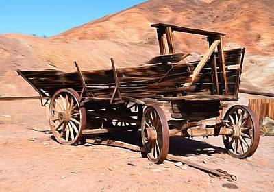 Ghost Town Painting - Scorched And Abandoned At Calico Ghost Town by Barbara Snyder