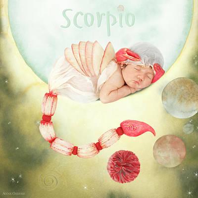 Zodiac Photograph - Scorpio by Anne Geddes