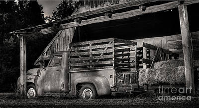 Scotopic Vision 5 - The Barn Print by Pete Hellmann
