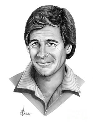 Famous People Drawing - Scott Bakula by Murphy Elliott