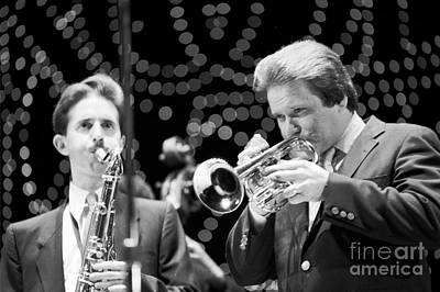 Jazz Musician Photograph - Scott Hamilton And Warren Vache  by The Phillip Harrington Collection