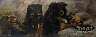 Scottish Dog Painting - Scottish Deerhound by MotionAge Designs