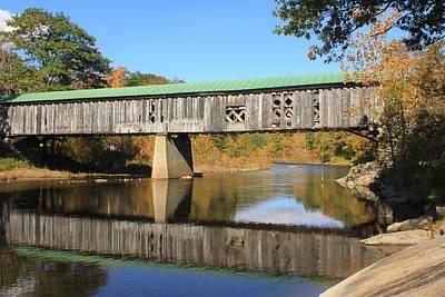 Townshend Photograph - Scotts Covered Bridge West River by John Burk