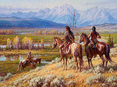 Scouts On The Buffalo Fork Original by Martin Grelle