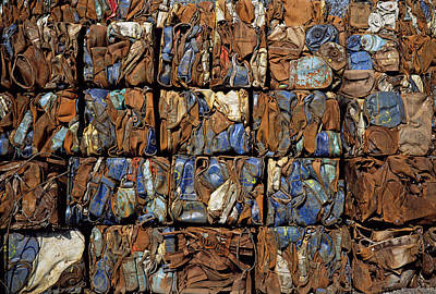 Scrap Metal Yard Photograph - Scrap Metal Bales by Dirk Wiersma