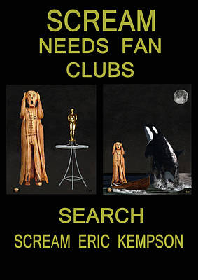 Orca Mixed Media - Scream Needs Fan Clubs by Eric Kempson