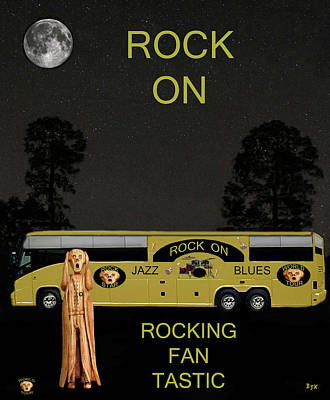 Scream We Will Rock You Print by Eric Kempson