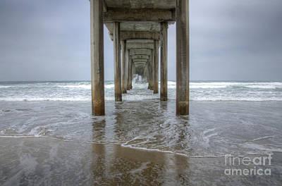 California Ocean Photograph - Scripps Pier La Jolla California 4 by Bob Christopher