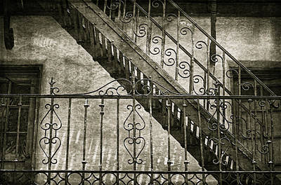 Abandoned Photograph - Scrolled Ironwork By H H Photography Of Florida by HH Photography of Florida