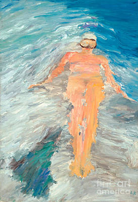 Free Form Painting - Sculling by Lisa Baack