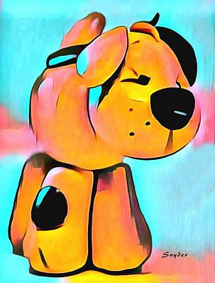 Sculpey Dog Fido  Print by Barbara Snyder