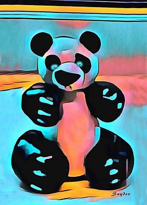 Sculpey Panda Bear Print by Barbara Snyder