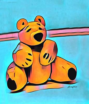 Sculpey Teddy Bear Print by Barbara Snyder