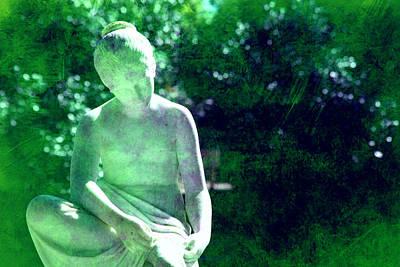 Sculpture In A Park Print by Susanne Van Hulst