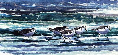 Scurrying Along The Shoreline 1-5-16 Print by Julianne Felton