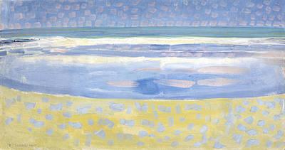 De Stijl Painting - Sea After Sunset by Piet Mondrian