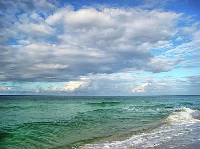 Sea And Sky - Florida Print by Sandy Keeton