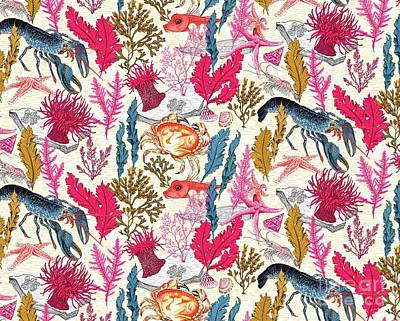 Sea Bed Repeat Pattern Print by Jacqueline Colley