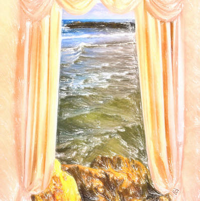 Colored Pencil Painting - Sea Breeze by L Wright